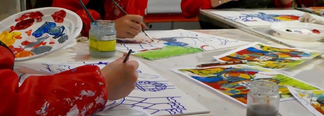 Cours de peinture pour enfants