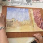 Perspective à l'aquarelle de Venise