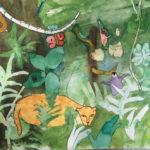 Aquarelle : la jungle