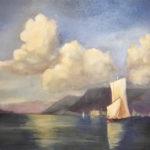 Nuages sur le lac - Par Ombeline