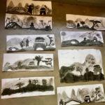 Petits : paysages à l'encre de Chine