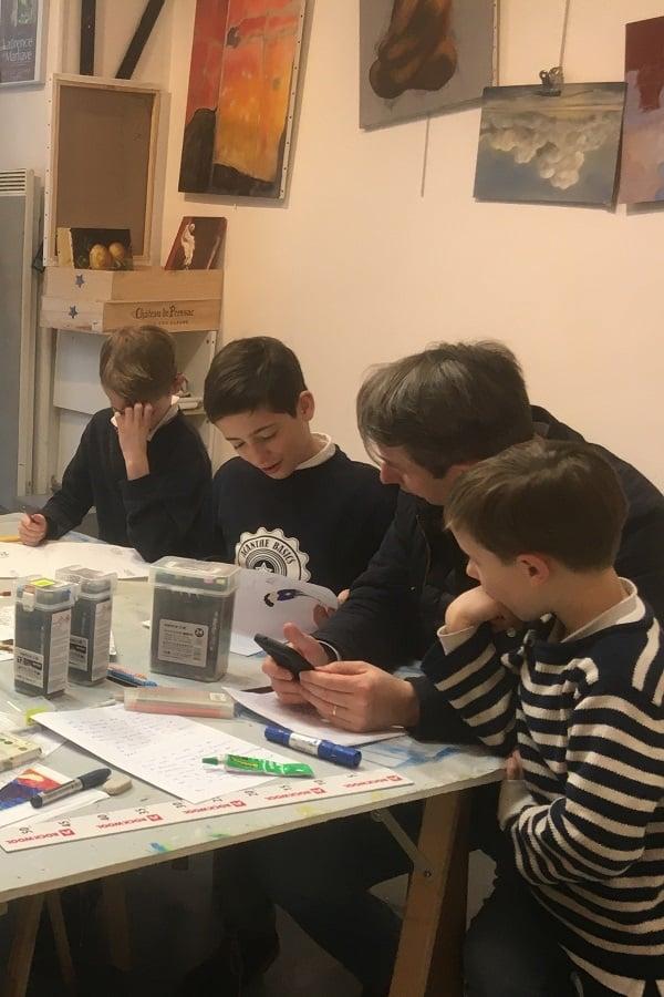 Cours parents enfants aux Ateliers de l'Etoile